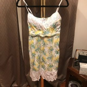 Dresses & Skirts - Yellow, green, and white dress